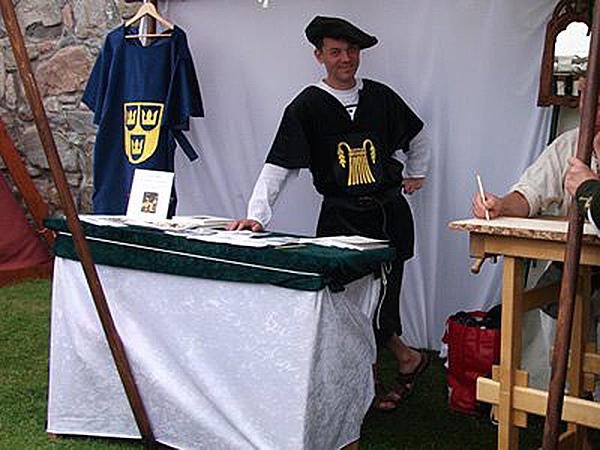 Jesper på Kongahälla medeltidsmarknad.