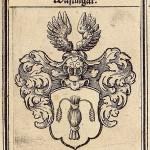 Vapen Wasling i 1600-talsstil, av Jens Christian Berlin.