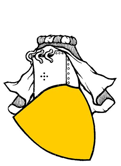 "Brittisk variant av halvöppen hjälm, ur Arthur Charles Fox-Davies ""The art of heraldry"""
