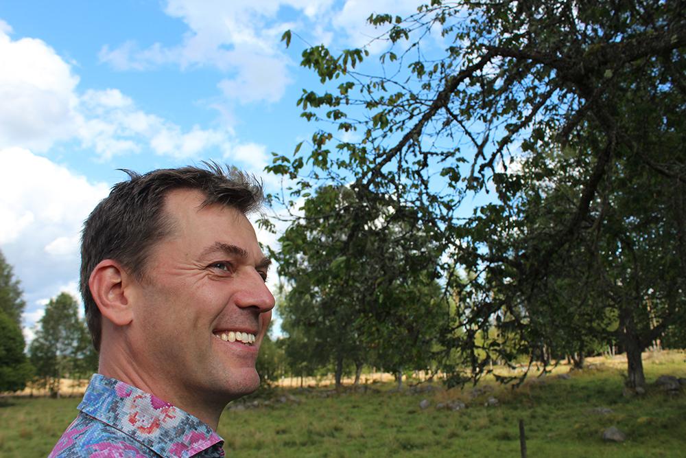 Jesper Wasling outside the family's summer house in 2015.
