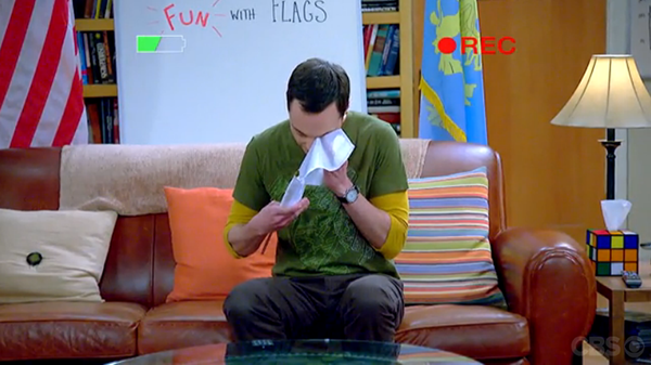 "Sheldon Cooper, ur ""Fun with flags"", episode 62"