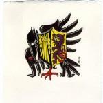 Alliansvapen, släktvapen, för släkterna Mutka och Wasling
