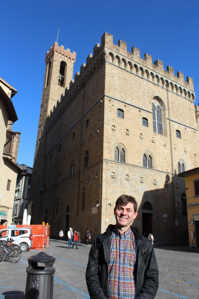 Jesper outside the Bargello in Florens 2015