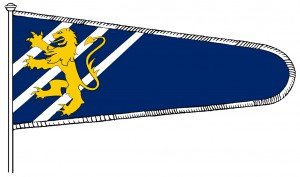 Sveriges baner (flagga) 1260-1350, version 1