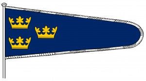 Sveriges baner (flagga) c:a 1360-1520, version 1