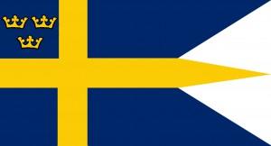 Sveriges första formella Kungliga flagga kom 1764.