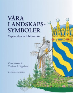 "Book cover for ""Våra landskapssymboler"", (Our historical provinces symbols)"