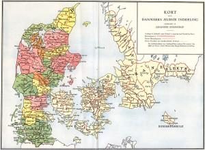 Danmarks medeltida indelning