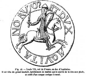 Kontrasigill för Ludvig (Louis) VII 1137-1180
