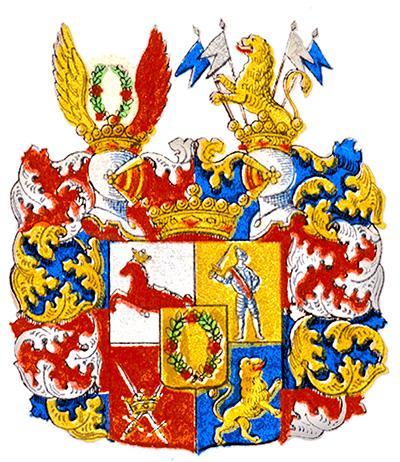 Coat of arms of Wrede af Elimä. Image: adelsvapen.com
