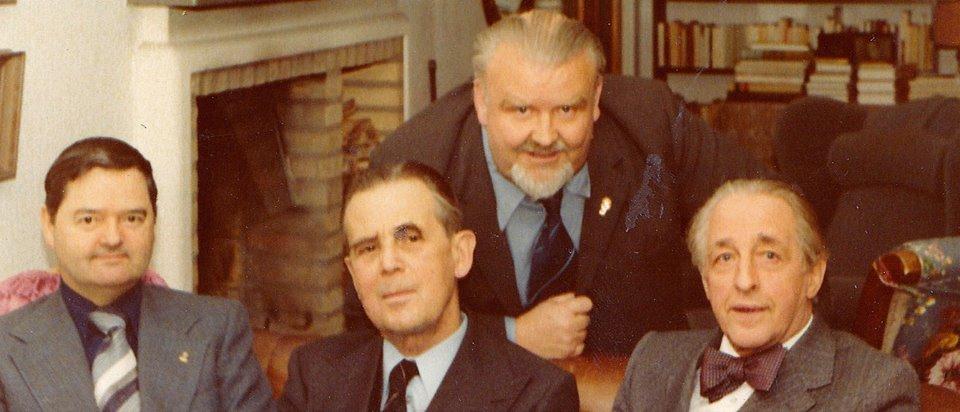 Bild på SHFs styrelse 1976.