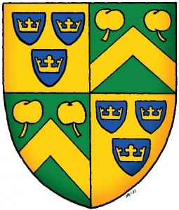 Ingemar Apelstigs vapen som ordförande i Svenska Heraldiska Föreningen