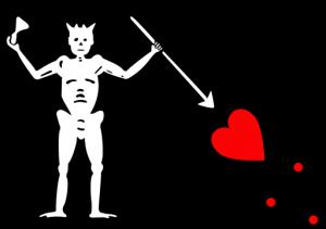 Sjörövare Svartskäggs piratflagga