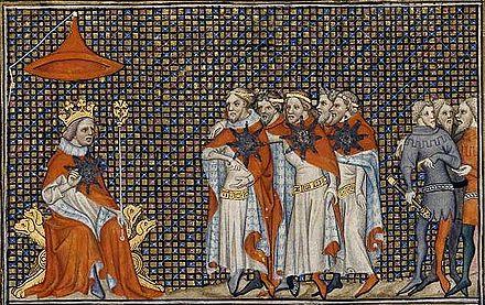 Stjärnordens riddare framför kung Johan III