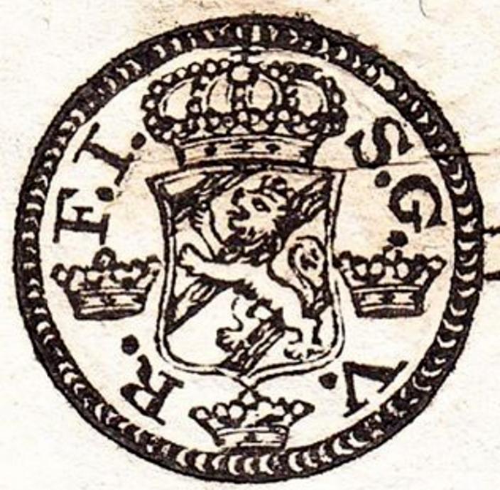En två penny från 1743