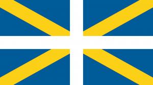 flagga längst fram
