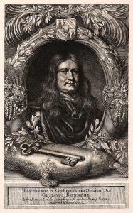 Riksskattmästare Gustav Bonde. Samtida kopparstick.