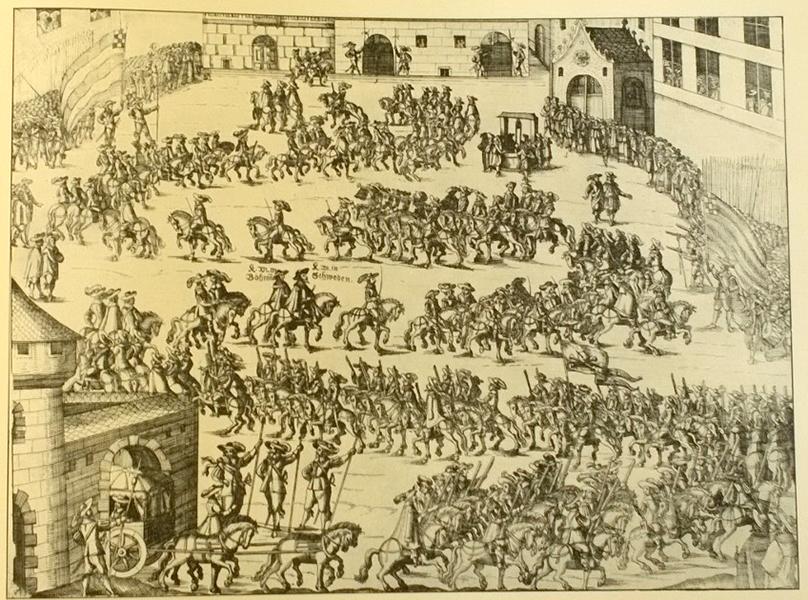 Svenska intåget till fredsförhandlingarna i Nürnberg 1648.