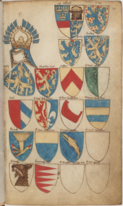 Utdrag ur vapenboken Bellenville från 1300-talet