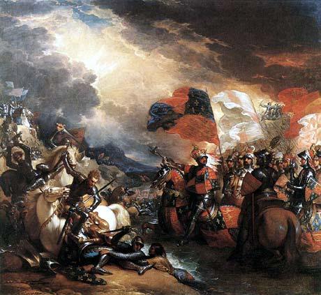 Slaget vid Crecy, som det beskrevs på 1800-talet