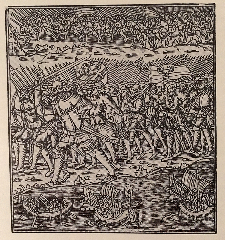 Svenska fälttecken från 1554.