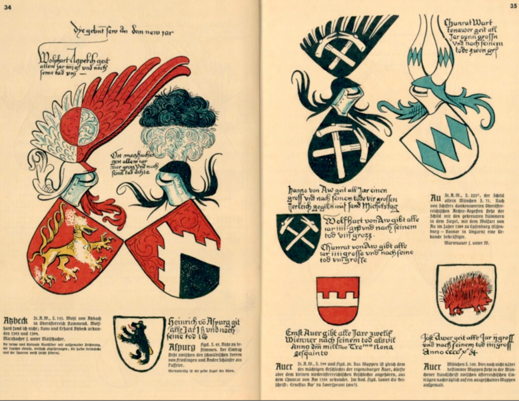 Utdrag ur Arlberger wappenbucher av Otto Hupp