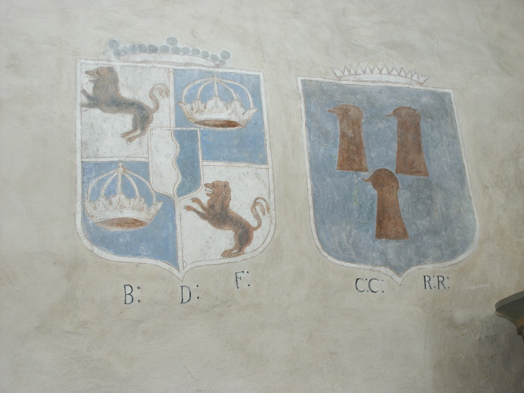 Fleetwood och Rotkirchs vapensköldar i Fivlereds kyrka