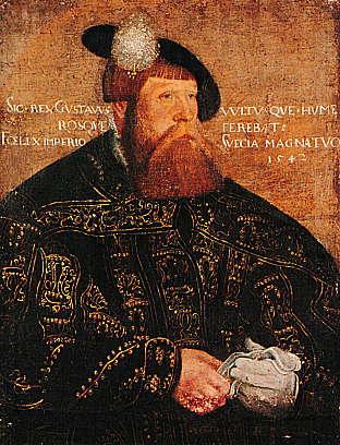 Gustav Vasa, svensk kung för länge sedan.