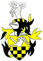 Ätten Stenbock, med sin uppstigande svarta stenbock och schackrutat fält
