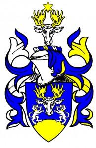 Vapensköld för Ackerstierna, från Jämtland.