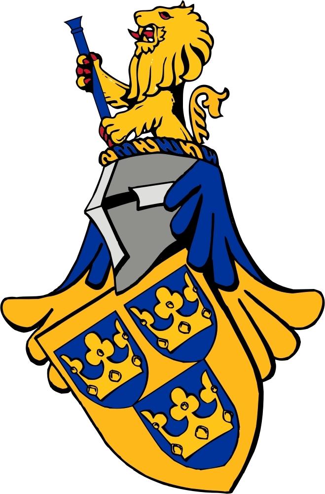 Svenska Heraldiska Föreningens vapen. Teckning: Thomas Falk