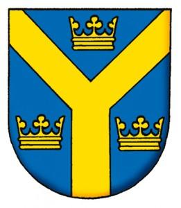 Vapnet för Svenska Nationalkommittén för Genealogi och Heraldik.
