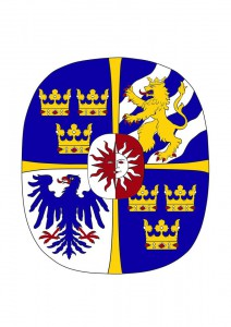 Förslag till vapen för Sofia Hellqvist av Thomas Falk, inlämnat till statsheraldikern