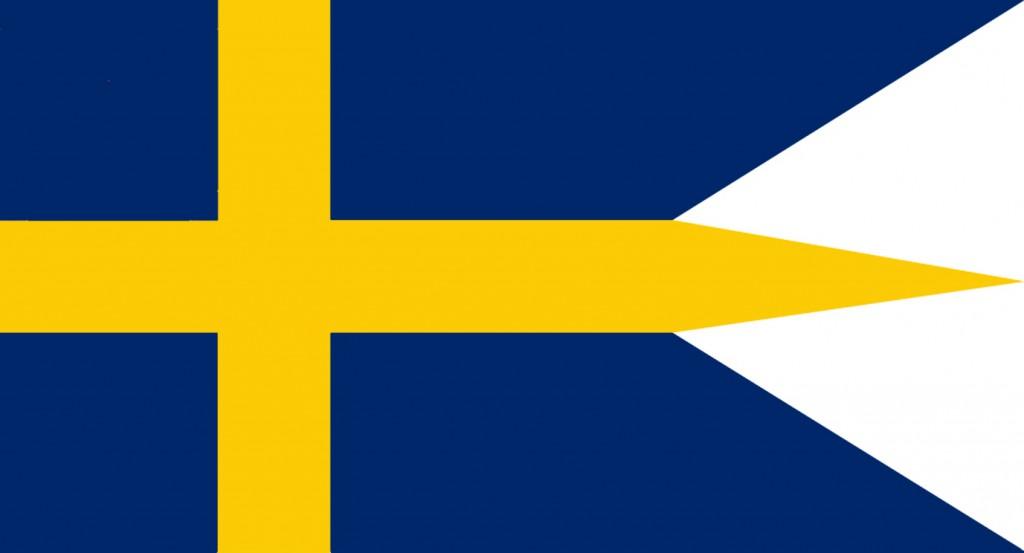 Sveriges flagga 1625, för flottan.