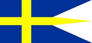Sverige flagga för flottan 1905-80