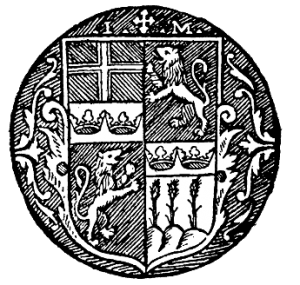 Johannes Magnus sigill som ärkebiskop. Korset hör till Uppsala stift.