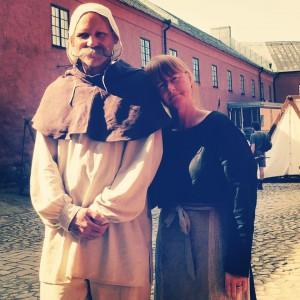 Pontus Rosenqvist och Helena på medeltidsdagarna i Varberg 2015