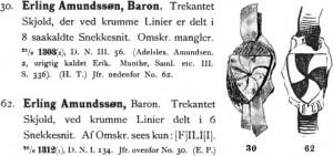 Erling Amundsson och hans vapen känt från omkring 1300.