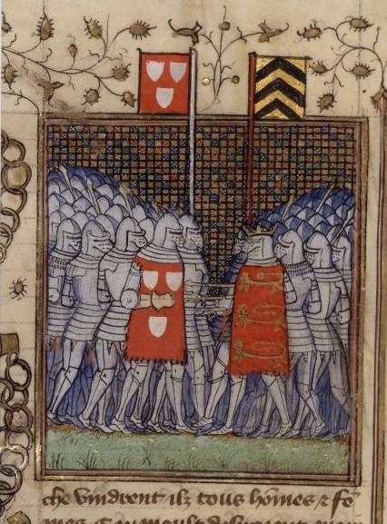 Riddaren Geoffroi de Charnay möter kungen av England