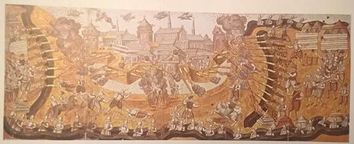 Svenskarna belägrar Narva 1581. Illustration av Rudolf van Deventer.