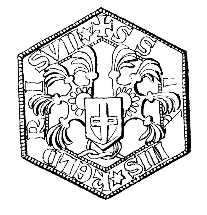 Crest of knight Holmger Ulfsson (Tre Stengavlar), 1295