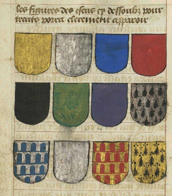 Tinctures in Traité du blason