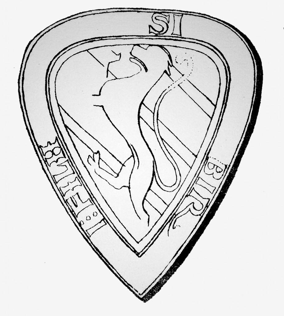Birger jarls sigill från 1230-talets mitt