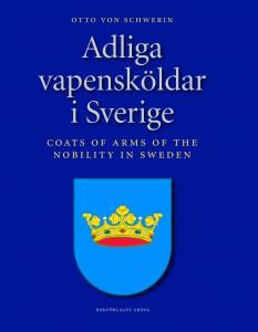 """Omslag till Otto von Schedwins bok """"Adliga vapensköldar i Sverige"""""""