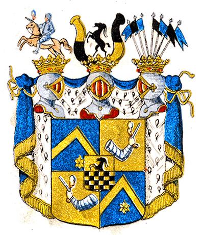 Arms of Stenbock, count no 12 att House of nobility in Sweden