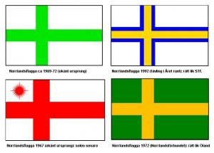 Äldre idéer kring en flagga för Norrland.