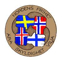 Symbol för den demokratiska rörelsen Nordens frihet.