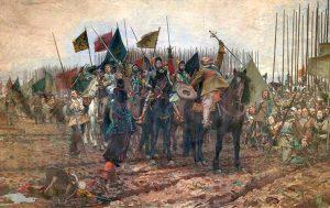 Nils Forsbergs tavla Gustaf II Adolf före slaget vid Lützen