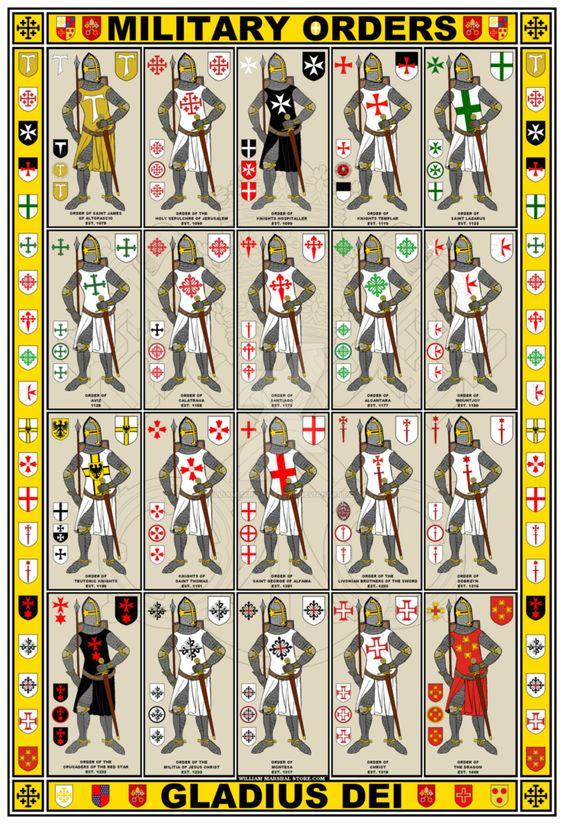 20 korsriddare med sina ordenstecken.