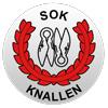 Emblem för orienteringsklubben SOK Knallen i Borås.